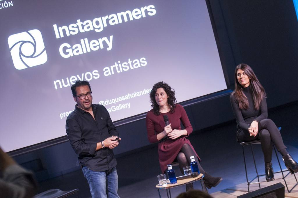 @philgonzalez with Instagramers Galery artists @nazaret @lauraponts