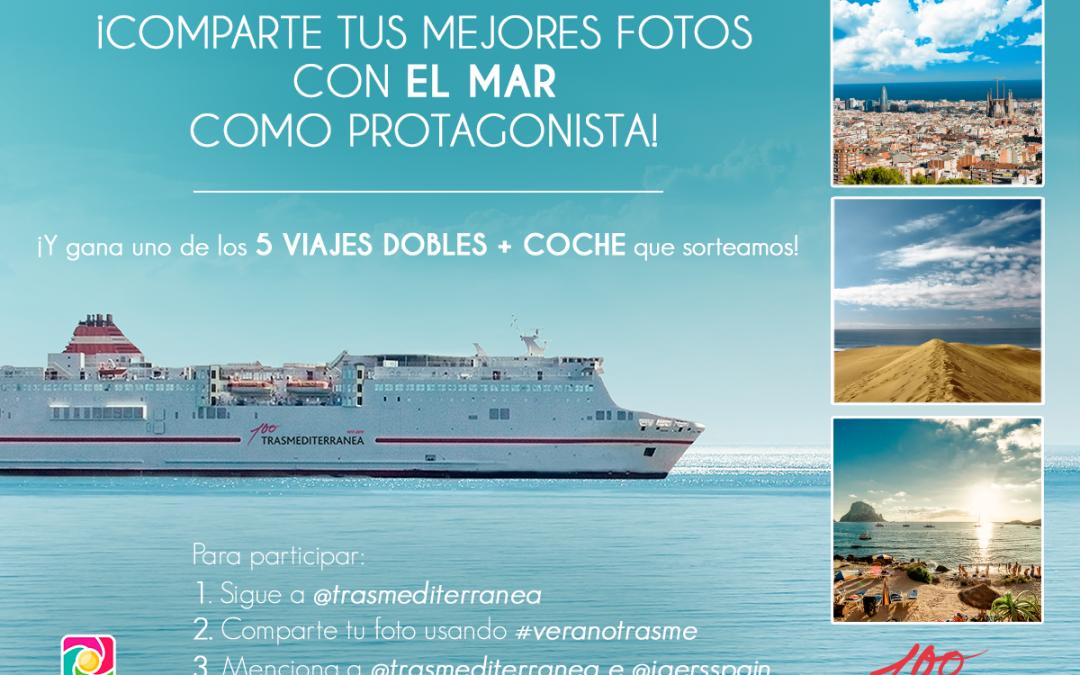 ¡Participa en el sorteo #veranotrasme en Instagram  y gana un viaje con Trasmediterranea!