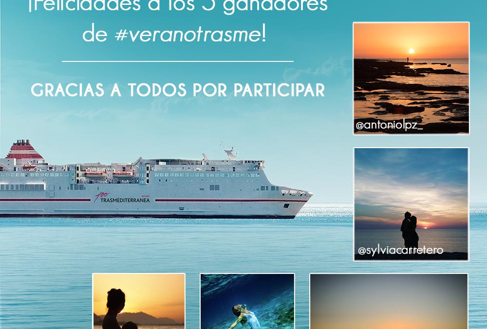 ¡Ya tenemos los ganadores del concurso #veranotrasme de Trasmediterranea!