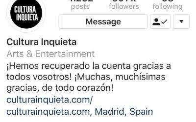 Instagram: Un fallo de seguridad en la Api provoca una ola de robos de cuenta.