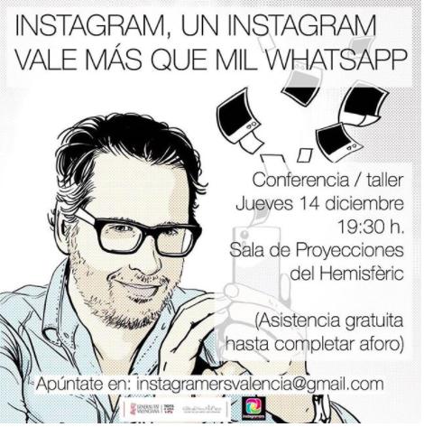 Conferencia sobre Instagram en la Ciudad de las Artes y las Ciencias de Valencia