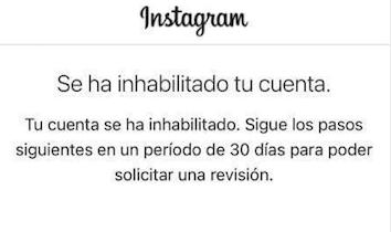 Cómo recuperar una cuenta deshabilitada en Instagram